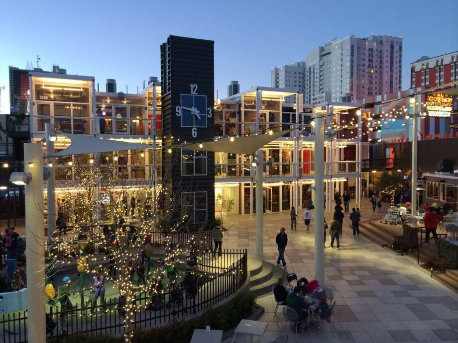 The Downtown Container Park is one of many recent steps toward revitalization of Las Vegas' downtown, especially along East Fremont Street. Photo: Spud Hilton, Bad Latitude