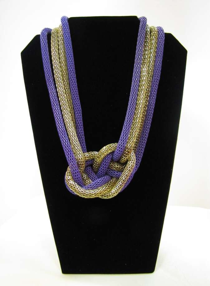 Mesh knot necklace set (earrings not shown), $23.97, AGK s Jewelry Box, Beaumont Photo: Cat5