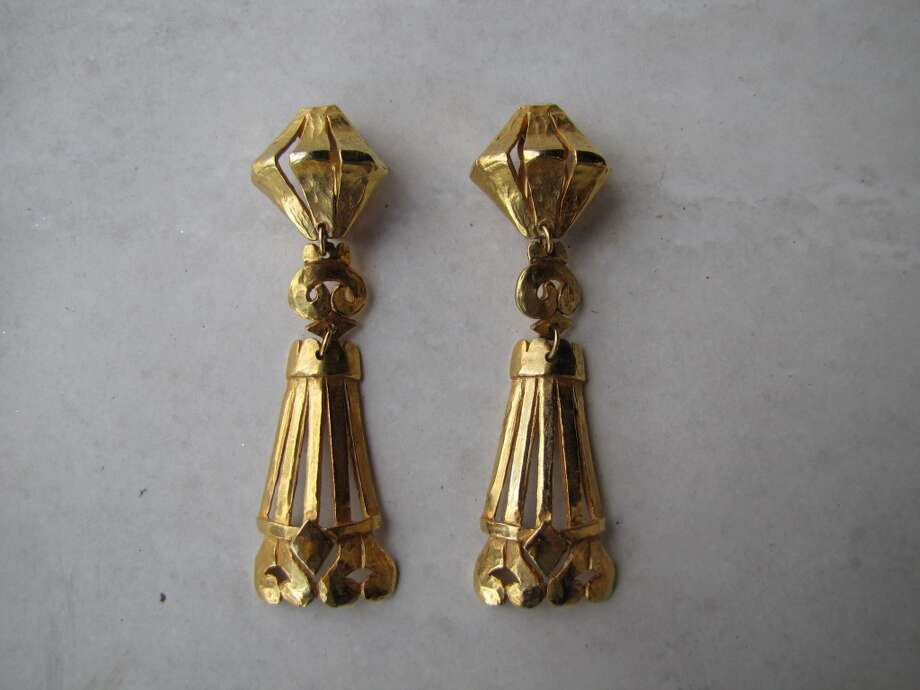 Vintage Delphine Nardin earrings, $59, Burns Antik Haus, Beaumont Photo: Cat5