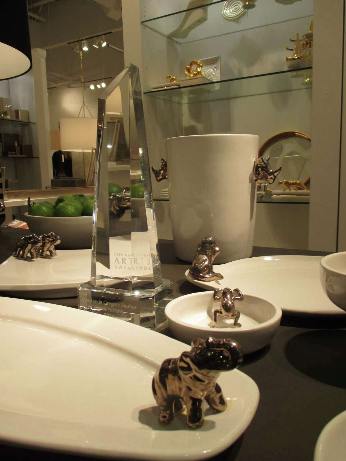 Houston's Waylande Gregory Studios won the 25th Annual ARTS Award for Home Accents in 2014.