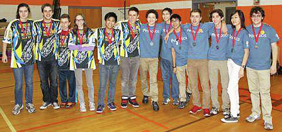 Members of the Wreckers Robotics and i2robotics teams have qualified to compete in a regional robotics competition in April in Pennsylvania. Photo: Contributed Photo / Westport News contributed