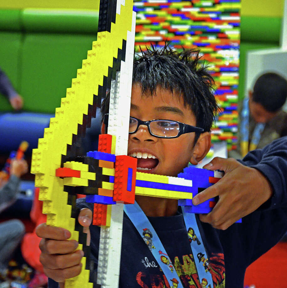 Join Lego Club at the Darien Library this Saturday to participate in collaborative Lego building with other kids. Ages 5 and up. Find out more.  Photo: Christopher Reynolds, MBR / Los Angeles Times