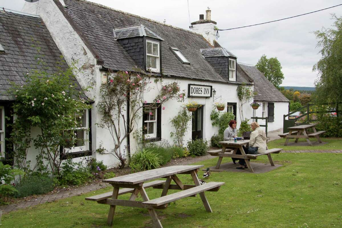 The Dores Inn, a restaurant and pub at Loch Ness, emphasizes local and seasonal ingredients.
