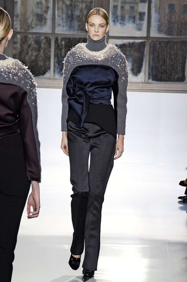 A model walks the runway at the Balenciaga Autumn Winter 2014 fashion show during Paris Fashion Week on February 27, 2014 in Paris, France. Photo: Catwalking, Getty Images