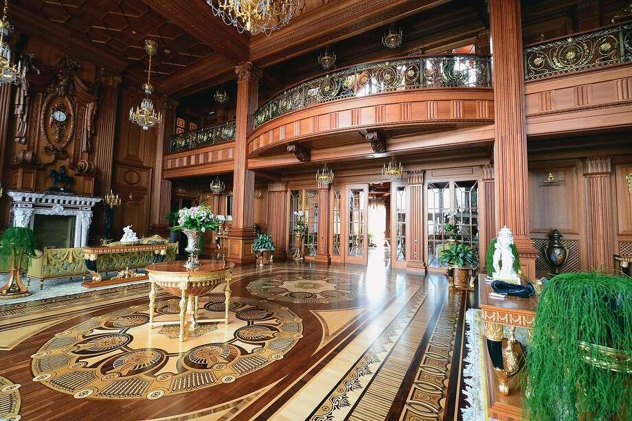 A view of a room inside President Viktor Yanukovych's Mezhyhirya estate, which was abandoned by security in Kiev, Ukraine. Photo: Jeff J Mitchell