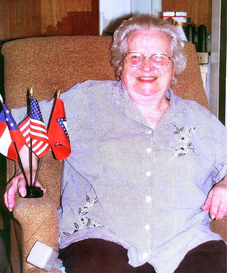 The last known widow of a Civil War vet, Maudie Hopkins (seen here at her Lexa, Ark., home in 2004 at 89 years old), died in 2008. That's the same  year Barack Obama won his first presidential election. Hopkins says poverty drove her to marry 89-year-old ex-Confederate soldier William Cantrell when she was just 19. Photo: GLENN A RAILSBACK III, AP / AP