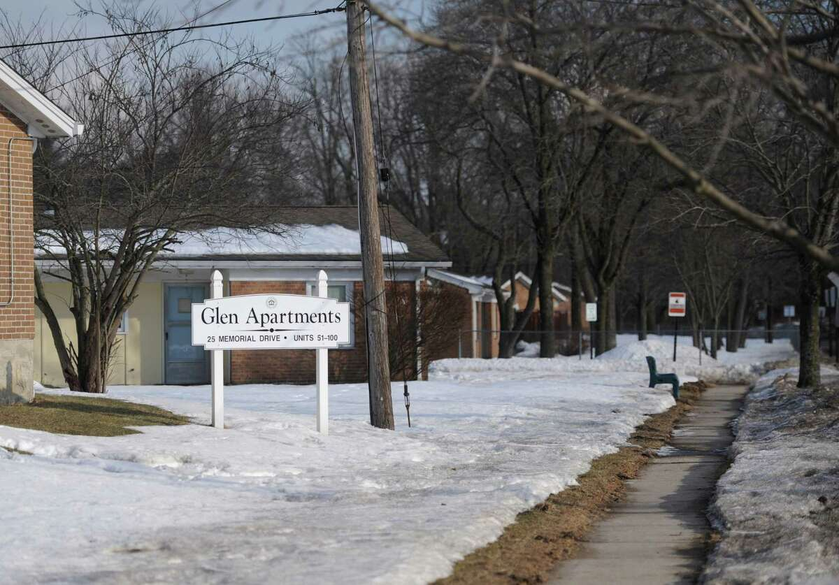 The Glen Apartments elderly housing complex in Danbury, Conn. Thursday, Feb. 27, 2014. The 100-unit complex on Memorial Drive near Rogers Park is getting $5 million from the state bond commission for needed upgrades and repairs.