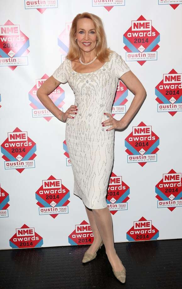Jerry Hall poses in the winners room at the annual NME Awards at Brixton Academy on February 26, 2014 in London, England. Photo: Tim P. Whitby, Getty Images