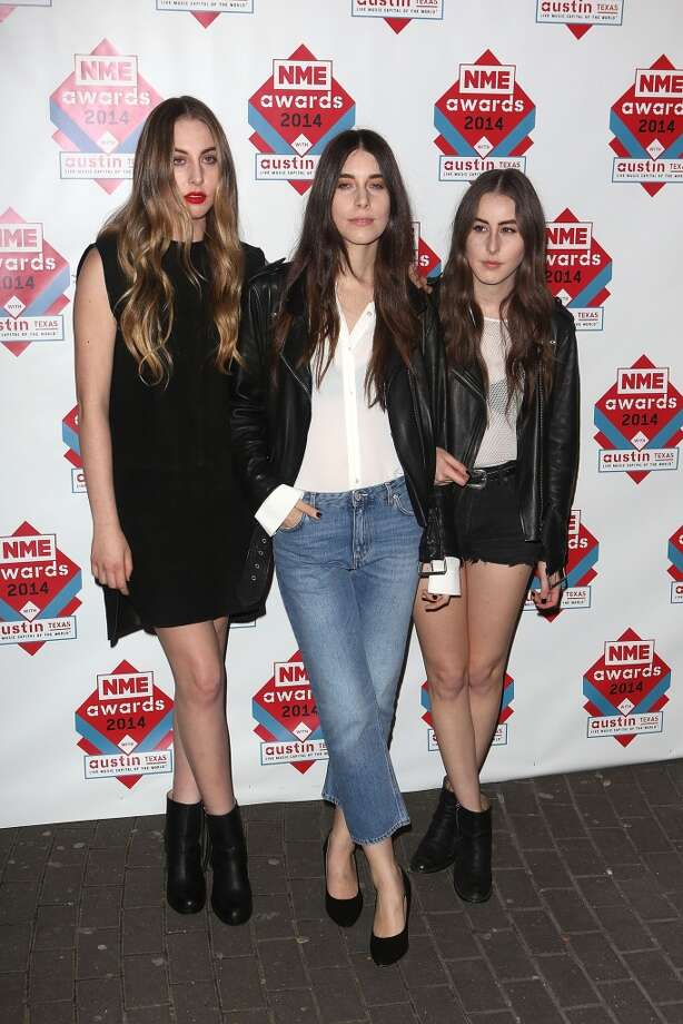Haim attends the annual NME Awards at Brixton Academy on February 26, 2014 in London, England. Photo: Tim P. Whitby, Getty Images