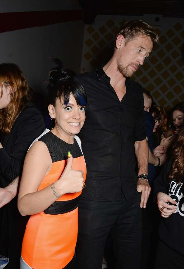 Lily Allen and Peter Crouch attend the after party for the NME Awards at Sketch on February 26, 2014 in London, England. Photo: David M. Benett, Getty Images
