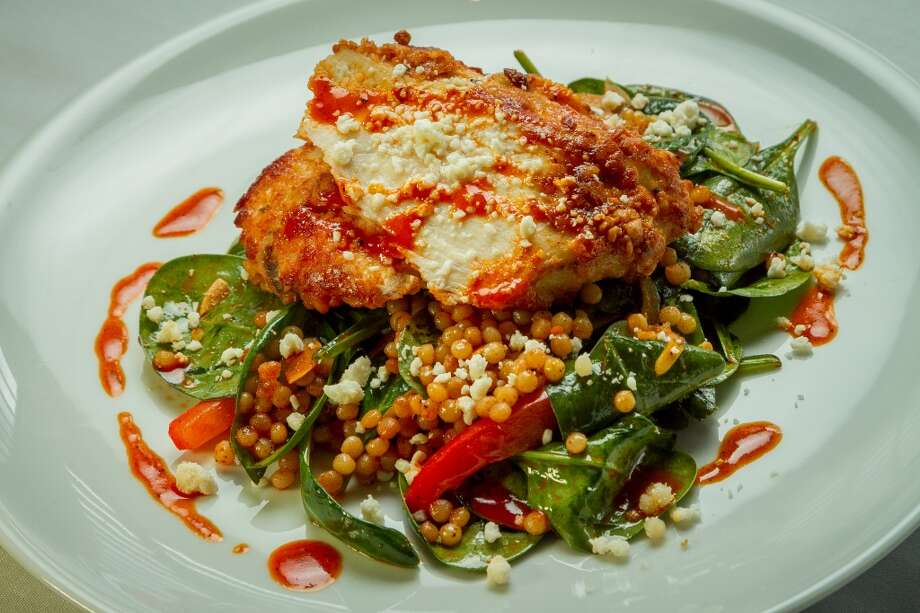 The Almond-Crusted Chicken Breast at 1226 Washington in Calistoga, Calif., is seen on February 14th, 2014. Photo: Special To The Chronicle