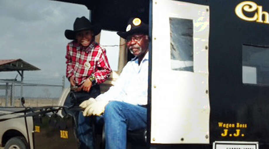 Robert D. Joe, 79, is pictured on the right. A member of the Northeastern Trail Ride died after suffering a heart attack while on the trail Thursday morning, fellow members said. Robert D. Joe, 79, was transported by ambulance to LBJ Hospital where he was pronounced dead. Trail members said Joe was one of the Northeast Trail Ride's cofounders back in 1982. Credit: Family photo