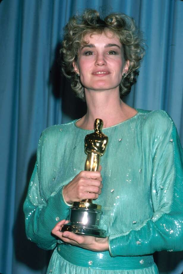 "Actress Jessica Lange (holding her Oscar) in the Press Room at the Academy Awards. She won the Oscar for her role in ""Tootsie,"" 1983. Photo: Time Life Pictures, Time & Life Pictures/Getty Image"