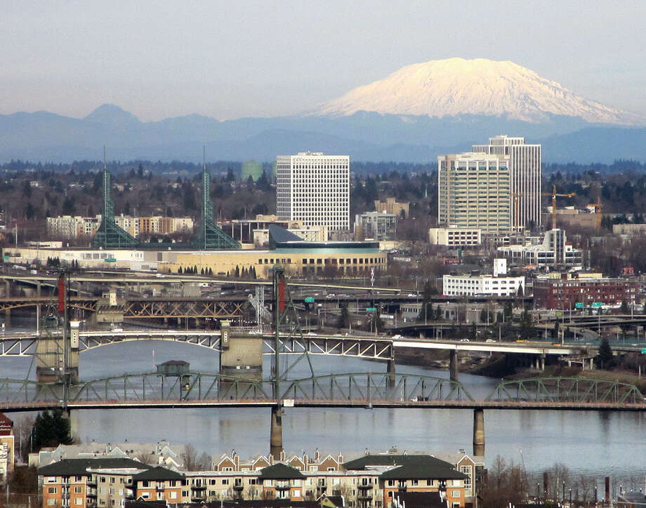 Portland has been nicknamed Bridgetown because nearly a dozen bridges span the Willamette River. Photo: Photos By Jennifer R. Lloyd / San Antonio Express-News