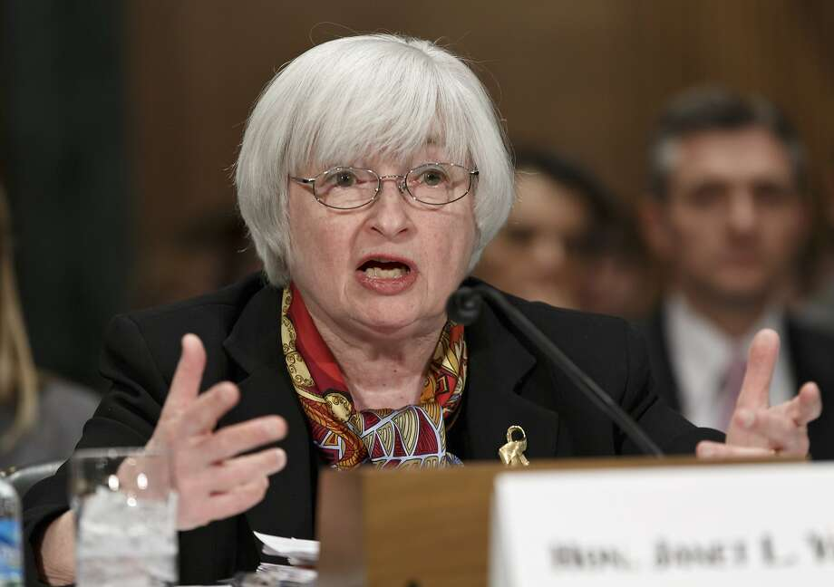 Federal Reserve chief Janet Yellen talks about the economy with the Senate Banking Committee. Photo: J. Scott Applewhite, Associated Press