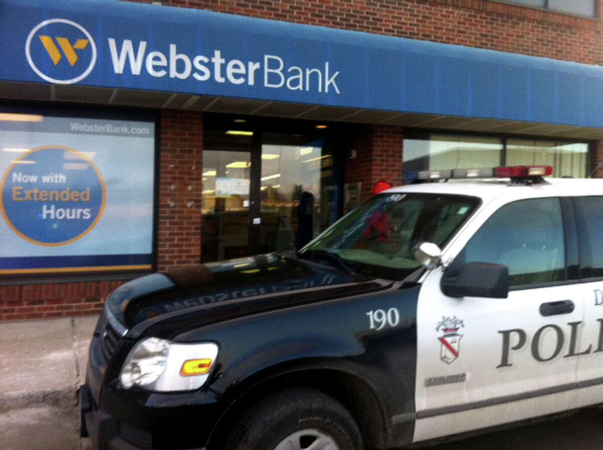 A robbery occurred around 3 p.m. at the Webster Bank branch in the Wooster Plaza on Main St. in Danbury, Conn. on Thursday, Feb. 27, 2014.