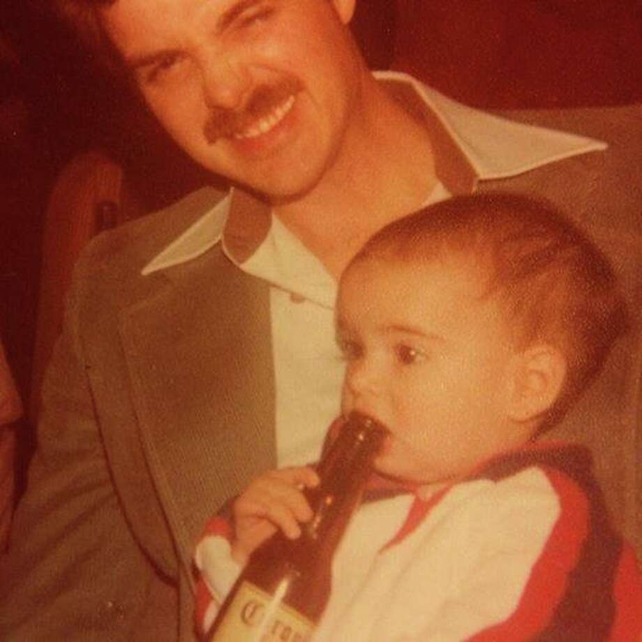 Local media mogul Alex Luster is seen here enjoying a Corona, way under legal drinking age. He's the one without the moustache. Photo: Alex Luster
