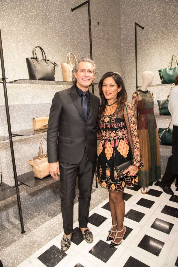 Valentino representative Carlos Souza with SFMOMA patron Komal Shah. Photo: Drew Altizer Photography/SFWIRE, Photo: Drew Altizer