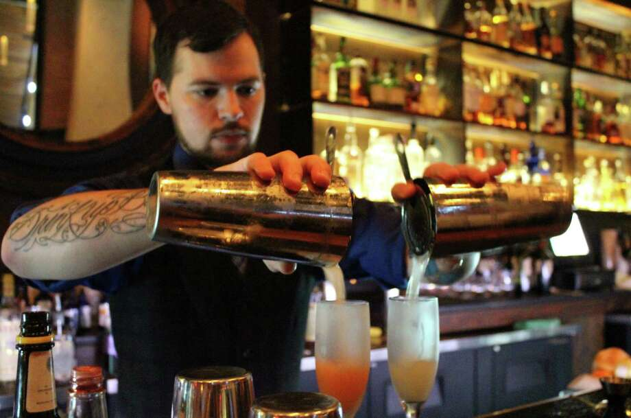 Stephan Mendez is general manager at Blue Box bar at The Pearl, where he's developed his cocktail program. Photo: Billy Calzada / San Antonio Express-News