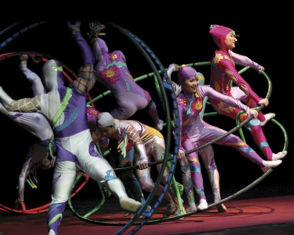 "The Golden Dragon Acrobats will bring ""Cirque Ziva"" to the Ridgefield Playhouse, 80 East Ridge, on Sunday, March 2 at 4 p.m. $40 for adults, $35 for children. 203-438-5795, ridgefieldplayhouse.org. Photo: Contributed Photo, ST"