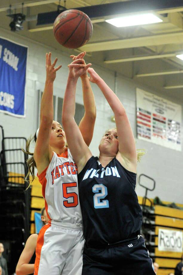 Wilton: Senior guard Erin Cunningham is Wilton's all-time leading scorer with 1,130 points and averaged 16.4 points and 8.0 rebounds for the Warriors, who won the Class LL championship and reached the FCIAC semifinals. Photo: Jason Rearick / Stamford Advocate