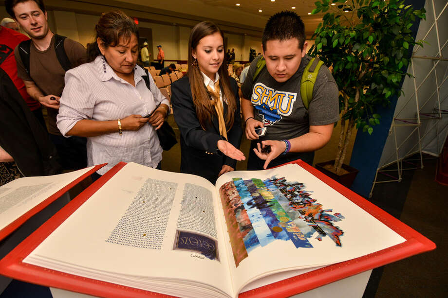 "St. Mary's University in San Antonio has obtained a rare reproduction of the Saint John's Bible, which reproduction overseer Jim Triggs said is illustrated ""in a 21st-century vernacular."" / Copyright 2013 by Robin Jerstad/ Jerstad Photographics LLC"