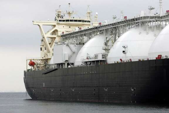 Liquefied natural gas tankers would transport LNG from export facilities planned along the U.S. Gulf Coast and elsewhere. But the economics of the liquefaction plants, which cost billions, may limit the number that become reality.( Tomohiro Ohsumi/Bloomberg)