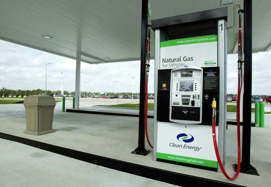 A recently-built natural gas fueling station near the EcoPark shuttle lot is shown Wednesday, March 7, 2012, in Houston. ( Brett Coomer / Houston Chronicle ) Photo: Brett Coomer, Houston Chronicle / © 2012 Houston Chronicle