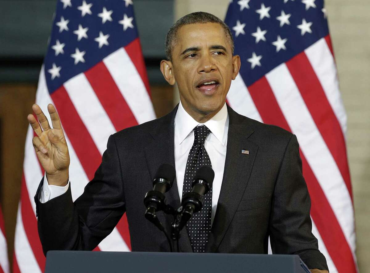 President Barack Obama urged young black and Hispanic males to make no excuses and work toward their futures as husbands, fathers and citizens.