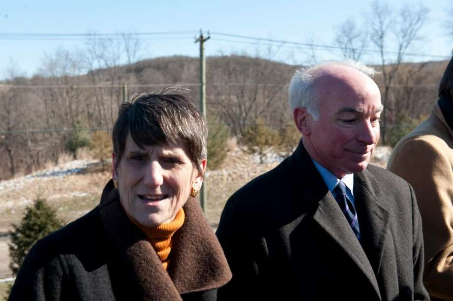 MIDDLETOWN, CT -  FEBRUARY 8:  U. S. Rep. Rosa DeLauro (D-CT) (L) and U.S. Rep. Joe Courtney (D-CT). respond to question by the media near the Kleen Energy Systems plant February 8, 2010 in Middletown, Connecticut. An explosion at the gas power plant, which is still under construction, killed five and injured 12 yesterday as workers were clearing air out of gas lines.  (Photo by Douglas Healey/Getty Images) *** Local Caption *** Rosa DeLauro;Joe Courtney Photo: Douglas Healey, Getty Images / 2010 Getty Images