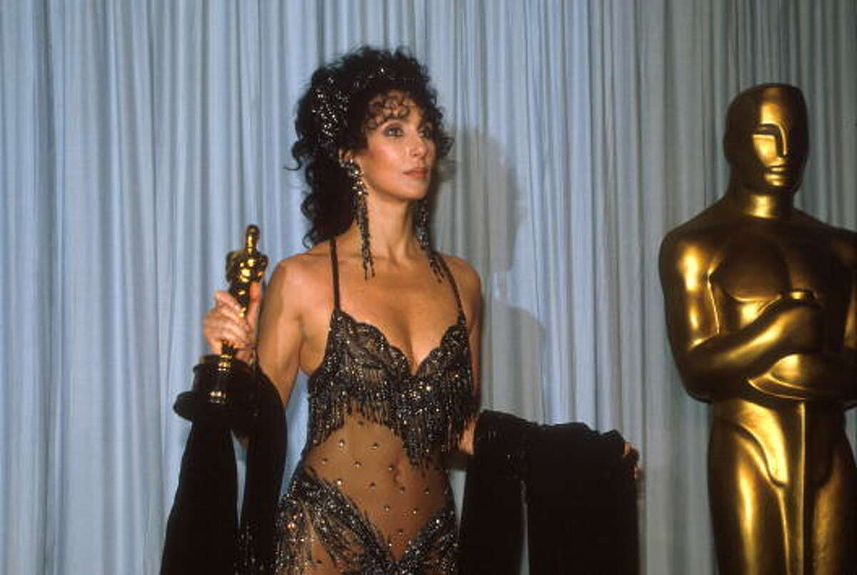 Cher for her inauthentic performance as an Italian American woman in MOONSTRUCK. Holly Hunter should have won that year for BROADCAST NEWS.