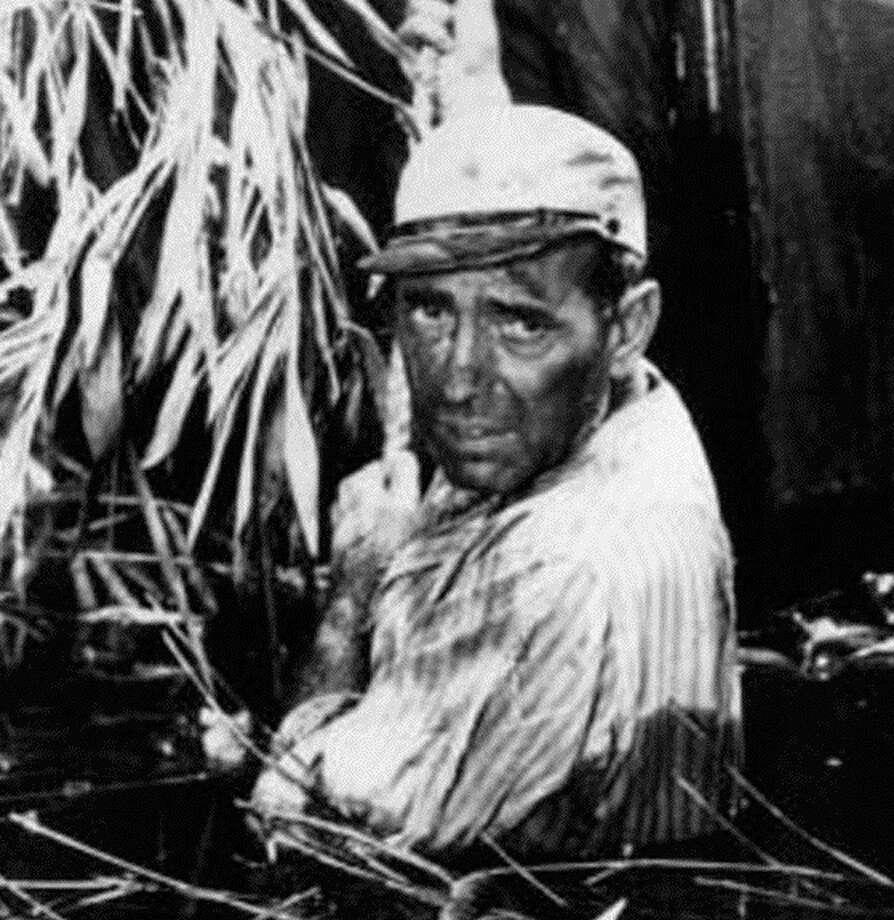 Humphrey Bogart in THE AFRICAN QUEEN -- lots of fun, but not better than Marlon Brando in STREETCAR. Photo: HO