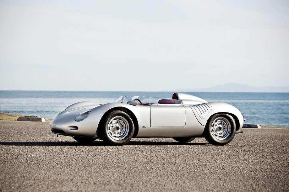 1959 Porsche 718 RSK, expected bidding, $3,250,000 to $3,750,000. Photo credit: Gooding & Co./Brian Henniker