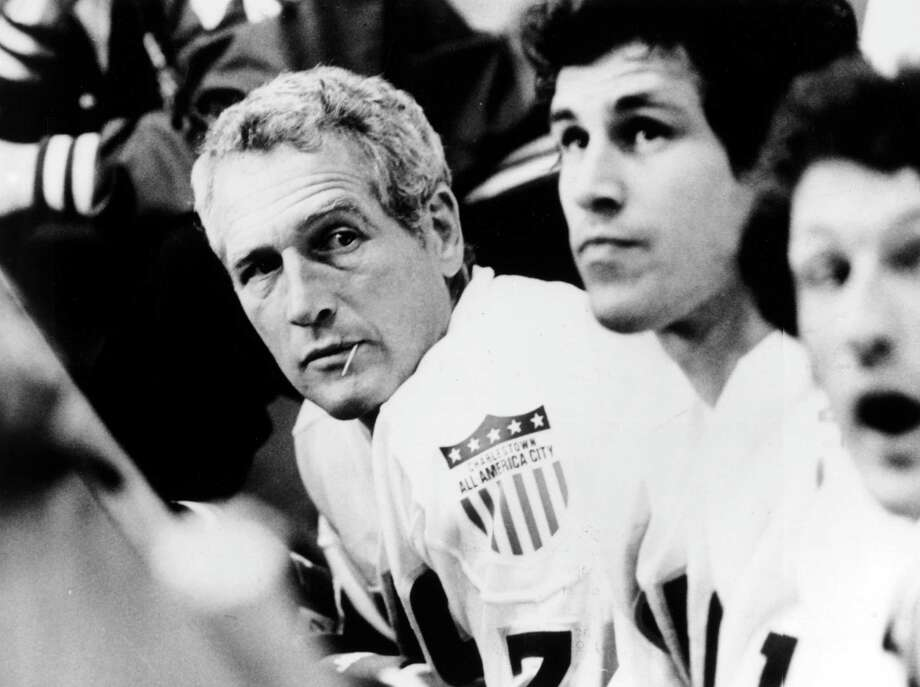 """Slap Shot"" was called ""Paul Newman and His Gang"" in Tel Aviv. Photo: Hulton Archive, Handout / Moviepix"