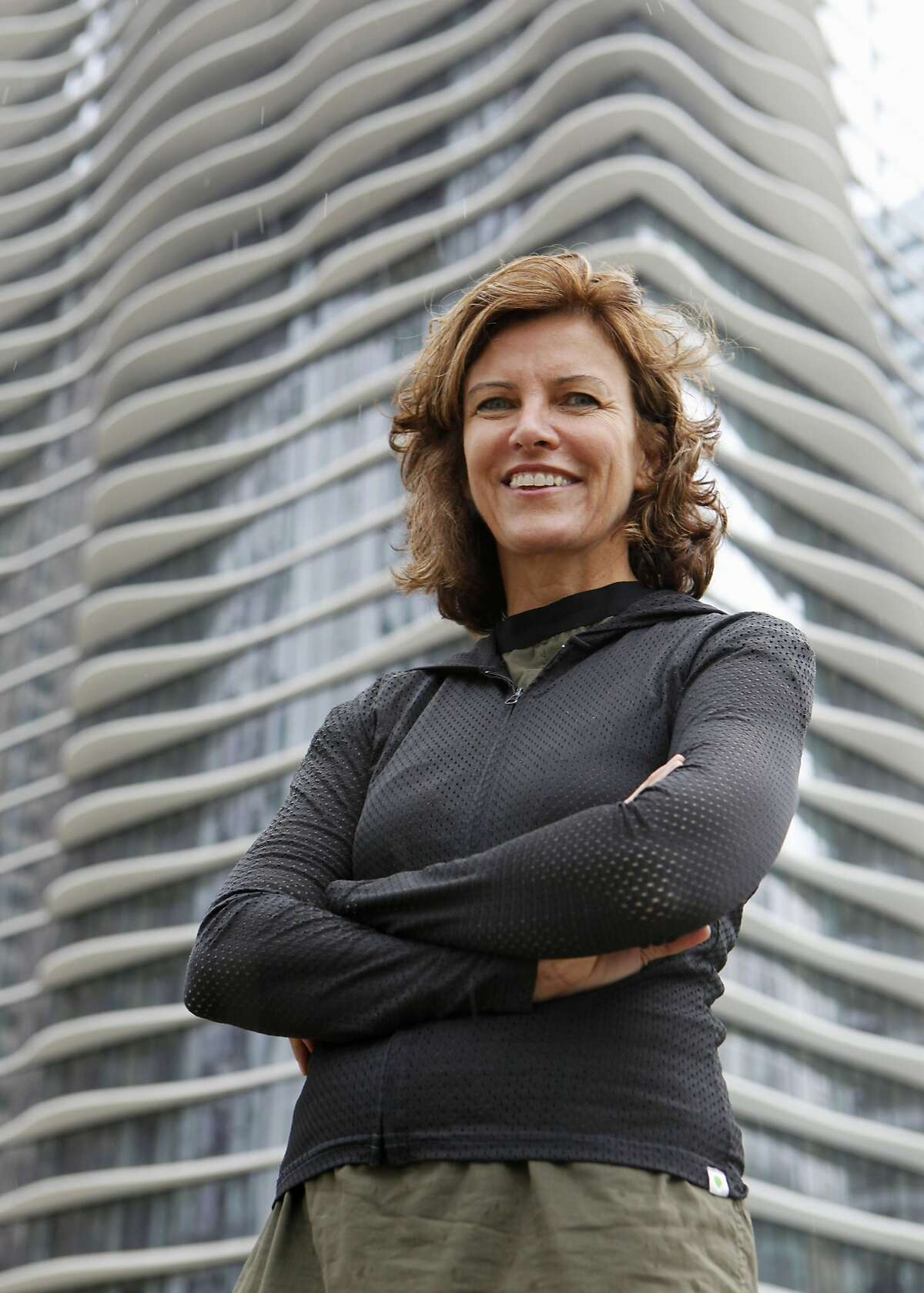 In this Sept. 14, 2011, photo provided Sept. 19, 2011 by the Chicago-based John D. and Catherine T. MacArthur Foundation, Jeanne Gang, 47, an architect focusing on the geographic, social and environmental factors of residential, educational and commercial buildings, poses for a photo in Chicago. Gang is one of 22 recipients of this year's MacArthur Foundation