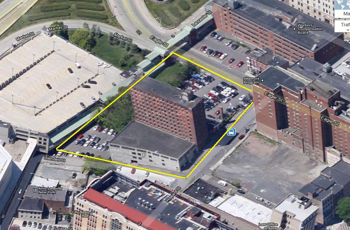 The proposed site of the Albany Capital Center, an 82,000-square-foot convention center being built behind State Street and just below the Capitol and Empire State Plaza. (Courtesy: Albany Conventon Center Authority)