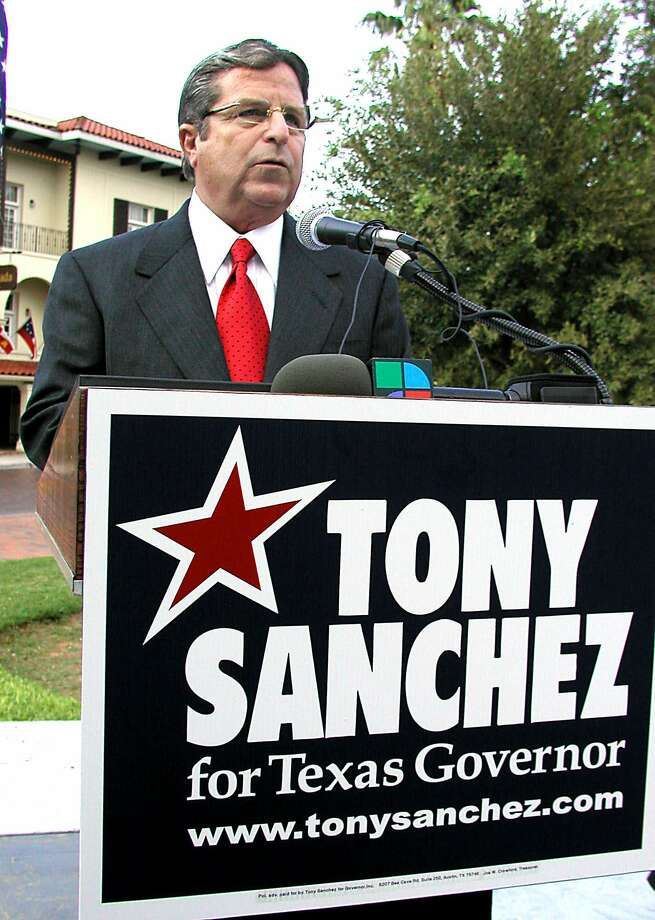 1. Tony Sanchez (Democrat)Total amount contributed: $53.3 millionProfile: Ran for governor against Rick Perry in 2001City: LaredoMain recipient: Tony Sanchez for Governor, Inc.Number of contributions: 35Source: Texas Tribune Photo: RICARDO SANTOS, AP / LAREDO MORNING TIMES