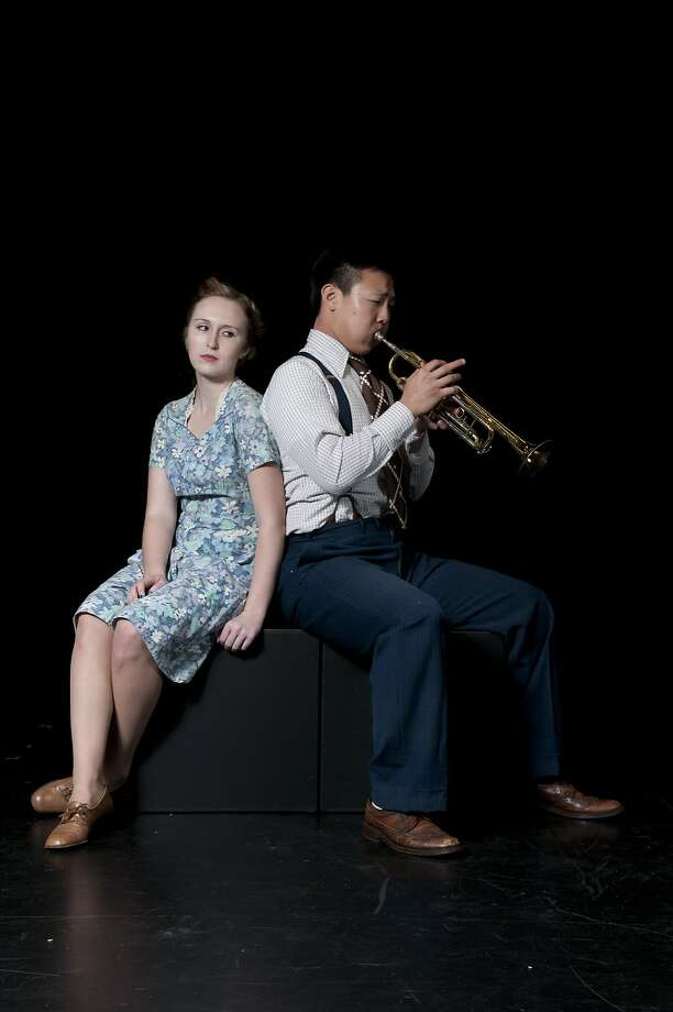 """Allison McCormack and Intae Kim in """"After the War Blues"""" at the Zellerbach Playhouse at UC Berkeley. Photo: Ryan Montgomery"""