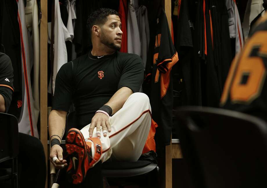 San Francisco Giants' Gregor Blanco, (7) on Wednesday Feb. 26, 2014, at Scottsdale Stadium  in Scottsdale, Arizona.  Major League Baseball players on the San Francisco Giants' comment on the violence currently striking their homeland of Venezuela. Photo: Michael Macor, The Chronicle