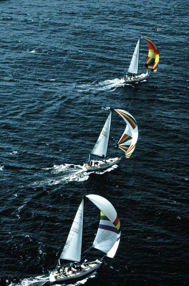 Santa Cruz Harbor fires up its Wednesday sailboat races for the season. Photo: Santa Cruz CVC