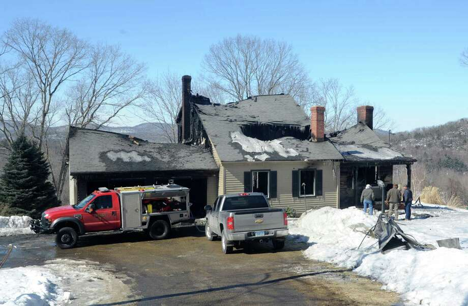 An overnight fire destroyed a house at 199 Henry Sanford Road in Bridgewater, Conn. on Friday, Feb. 28, 2014. Photo: Cathy Zuraw / The News-Times