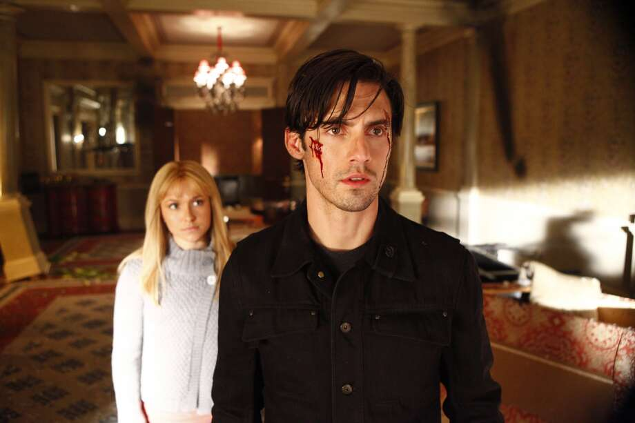 Hayden Panettiere as Claire Bennet, Milo  Ventimiglia as Peter Petrelli from the hit TV show 'Heroes.'