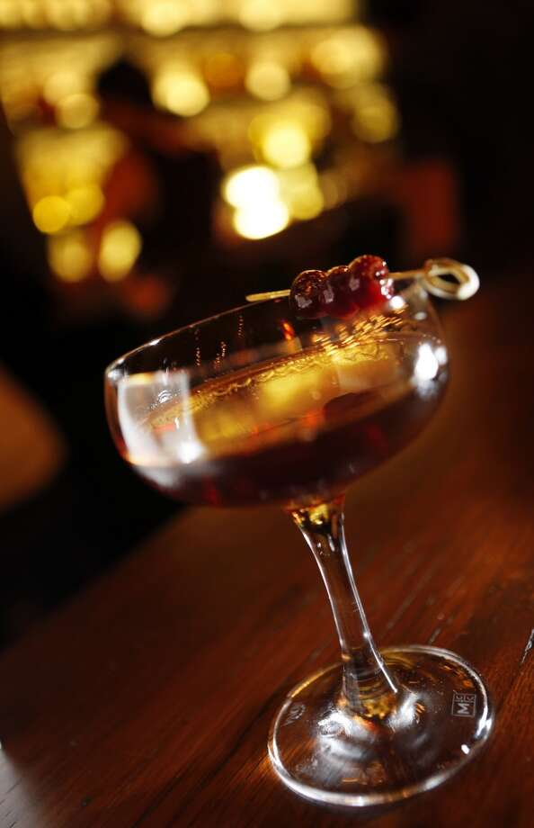 Classic Manhattan served at The Square in San Francisco. Photo: Carlos Avila Gonzalez, The Chronicle