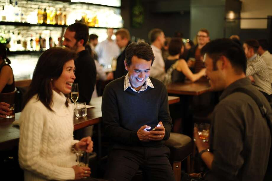 The bar area at The Square in San Francisco. Photo: Carlos Avila Gonzalez, The Chronicle