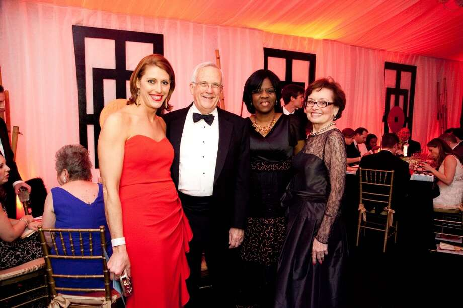 Jen Daly, John Scales. Dr. Olutoyin Olutoye, Gracie McClure at the Imperial Dragon, the annual Charity Ball benefitting the Junior League of Houston, Feb. 8, 2014. Photo: Michael Martinez
