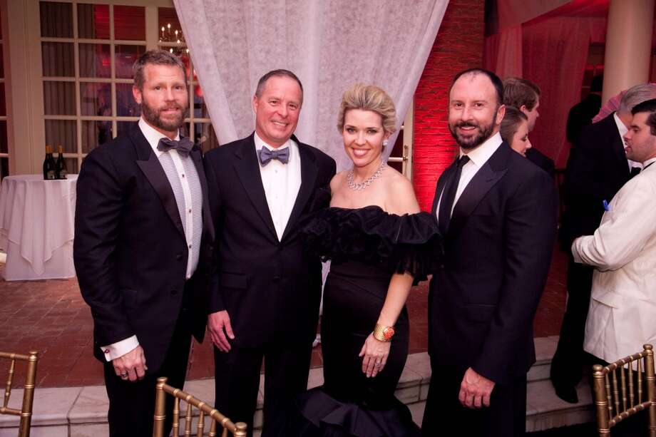 Kevin Black, Tim and  Marian Hilpert and Tony Bradshaw at the Imperial Dragon, the annual Charity Ball benefitting the Junior League of Houston, Feb. 8, 2014. Photo: Michael Martinez