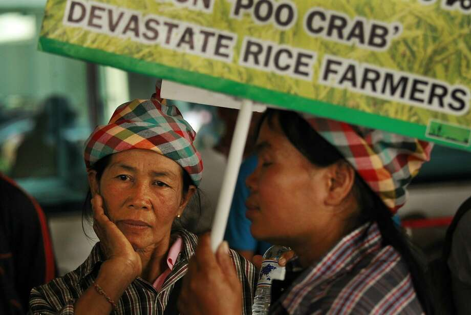 There's nothing worse than a poo crab infestation: Rice farmers wait to file claims for back pay on a rice subsidy plan at the Attorney General's Office in Bangkok. The   program has accumulated losses of at least $4.4   billion and has been dogged by corruption allegations. Photo: Wally Santana, Associated Press