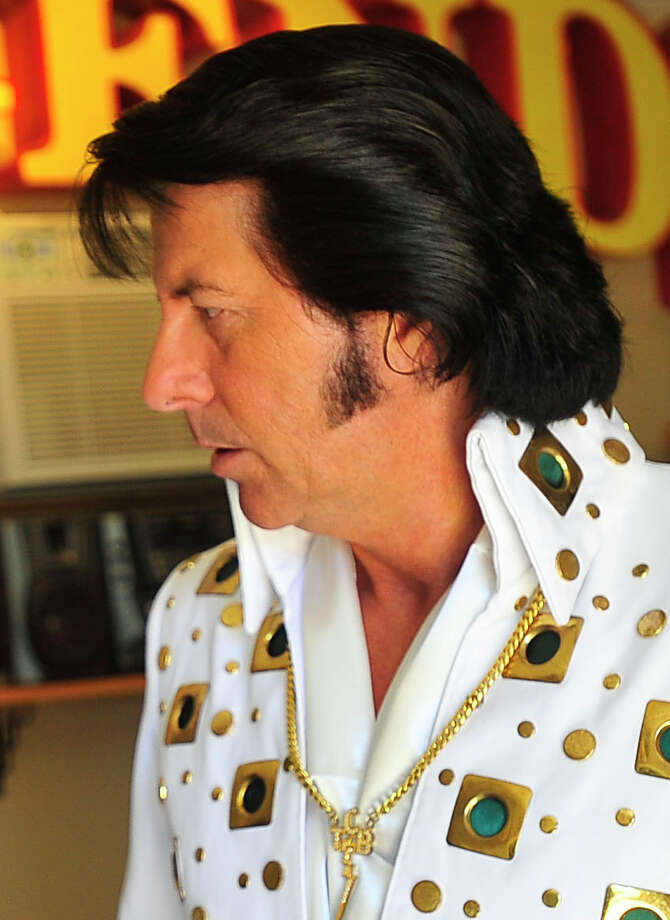 Lumberton resident and Elvis impersonator JR Headrick, 53, will perform at the County Seat Music Hall, 125 Brown St. in Kountze, on March 14 and 15. Photo by Cassie Smith/@smithcassie. Feb. 27, 2014. Photo: Cassie Smith/@smithcassie