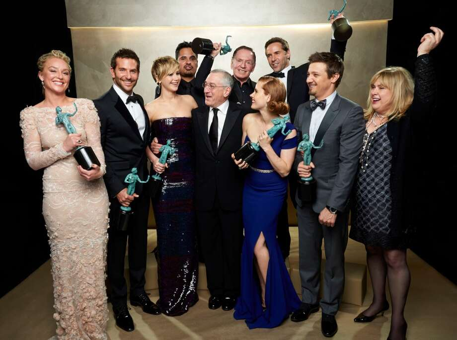 "If ""American Hustle"" wins, take a sip Steal a sip from a friend every time ""American Hustle"" wins an award, cast members' honors included. Photo: Kevin Mazur, WireImage"