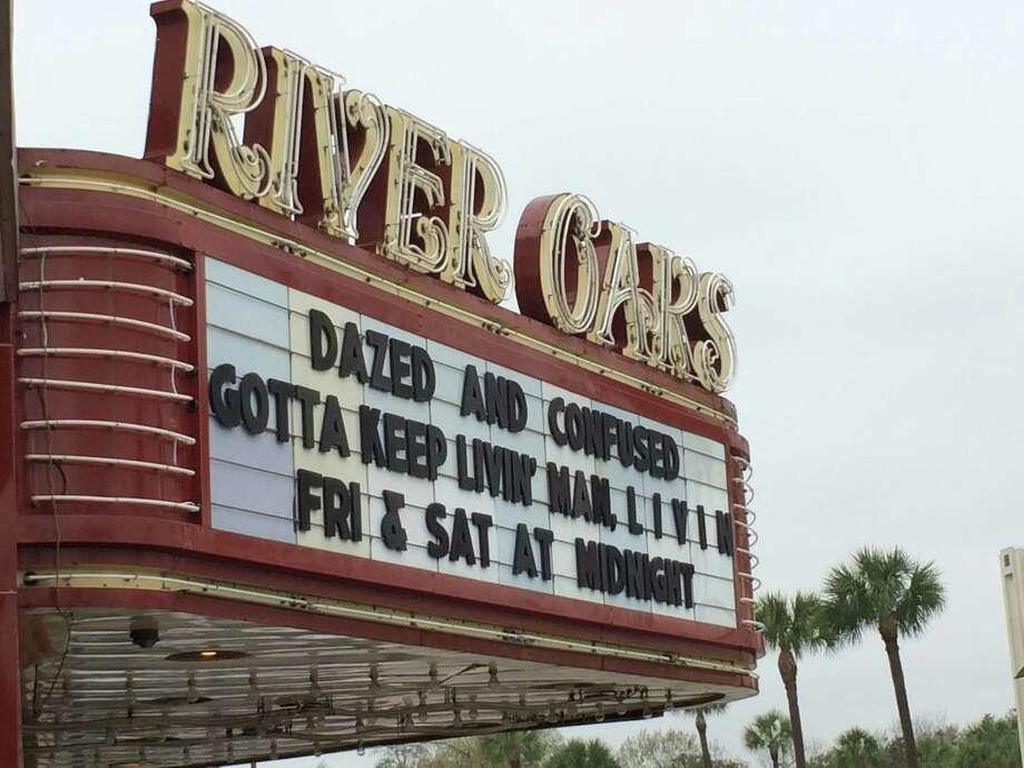 Dazed and Confused on the marquee at the River Oaks Theatre Photo: Andrew Dansby